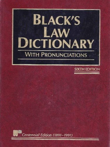 9789065446312: Black's Law Dictionary - Sixth Edition