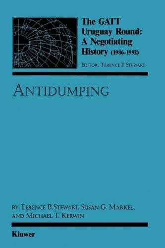 9789065447531: Antidumping (The Gatt Uruguay Round: a Negotiating History (1986-1992))