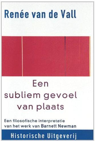 9789065543417: Een subliem gevoel van plaats: een filosofische interpretatie van het werk van Barnett Newman