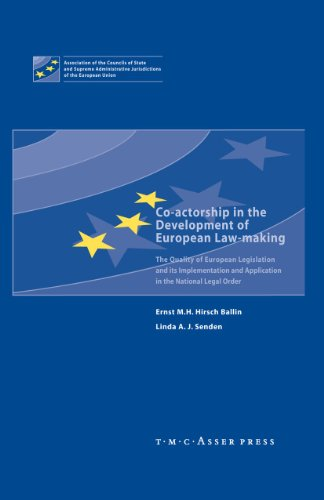 Co-actorship in the Development of European Law-Making: The Quality of European Legislation and its...