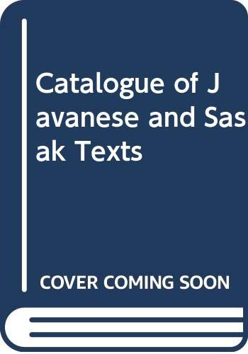 9789067181433: Catalogue of Javanese and Sasak Texts