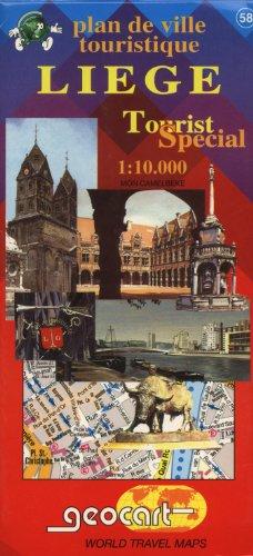 9789067360609: Liege / Luik (Belgium) 1:10,000 Tourist Plan