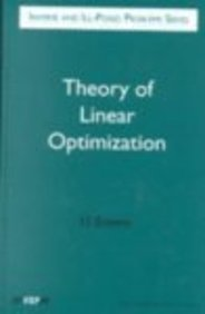 9789067643535: Theory of Linear Optimization (Inverse and Ill-Posed Problems)