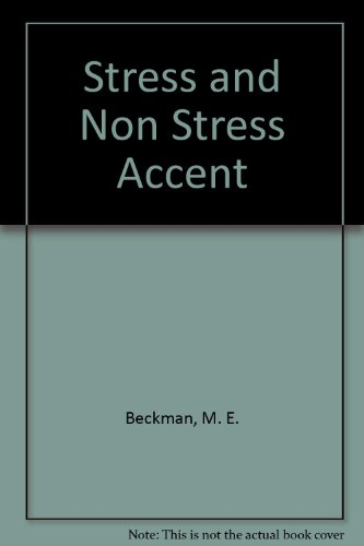 9789067652445: Stress and Non Stress Accent