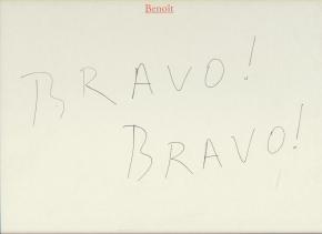 Bravo ! Bravo !: Beno�t