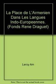 9789068310498: La place de l'armenien dans les langues indo-europeennes. (Fonds Rene Draguet)