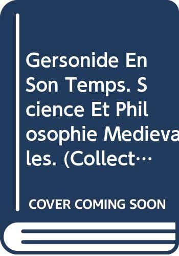 9789068313659: Gersonide en son temps: Science et philosophie médiévales