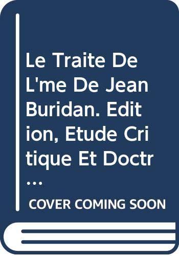 Le traite de l'me de Jean Buridan.: Patar, B