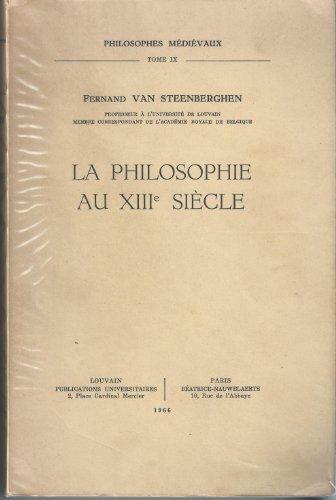9789068313703: La philosophie au XIIIe si�cle