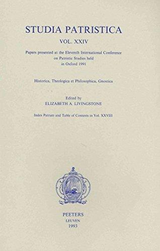 Studia Patristica. Vol. XXIV - Historica, Theologica et Philosophica, Gnostica: LivingstoneE.A.,