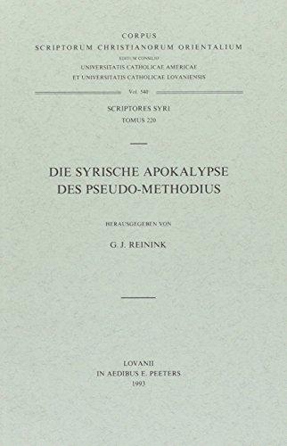 Die Syrische Apokalypse des Pseudo-Methodius: ReininkG.J.,