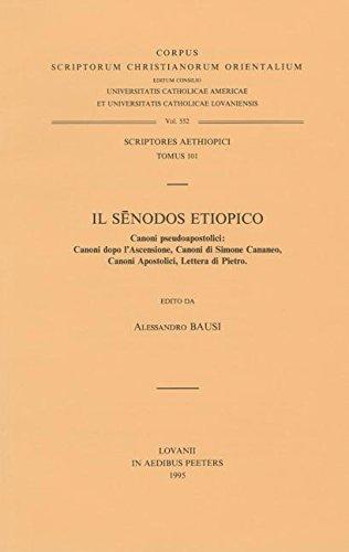 9789068316940: IL SENODOS ETIOPICO CANONI PSE (Corpus Scriptorum Christianorum orientalium)