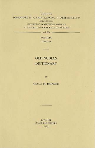 9789068317879: Old Nubian Dictionary Subs. 90.: v.90