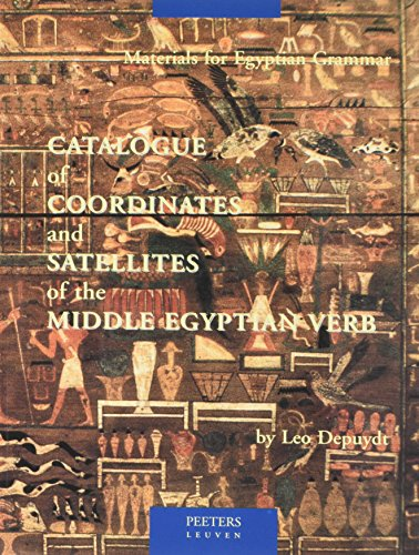 9789068317909: Catalogue of Coordinates and Satellites of the Middle Egyptian Verb (Egyptologica)