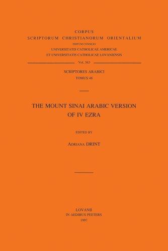 9789068318388: The Mount Sinai Arabic Version of IV Ezra Ar. 48. (Corpus Scriptorum Christianorum Orientalium)