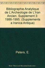 Bibliographie analytique de l'archeologie de l'Iran Ancien.: Haerinck, E; Stevens,