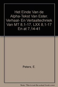 Het einde van de alpha-tekst van Ester: De Troyer K.,