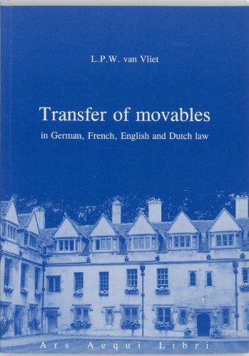 9789069163536: Transfer of movables: in German, French, English and Dutch law