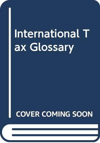International Tax Glossary: Lanking, Barry