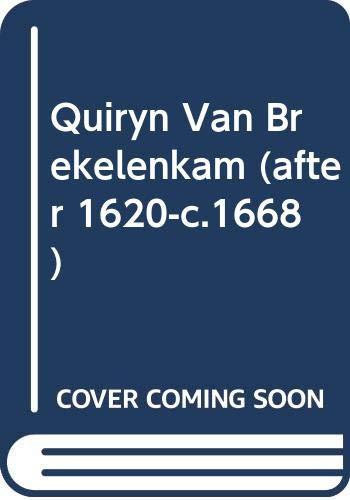 9789070288822: Quiryn Van Brekelenkam (after 1620-c.1668)