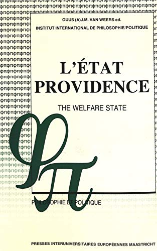L'État-providence The Welfare State: VAN WEERS GUUS J.M. (ED)