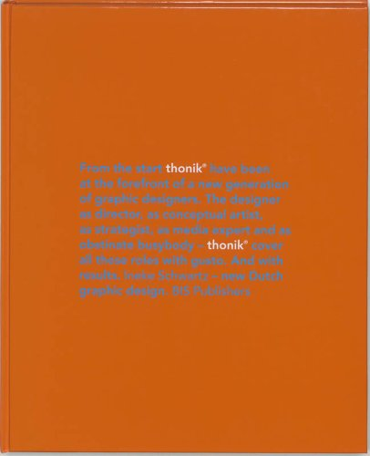9789072007872: Thonik: New Dutch Graphic Design