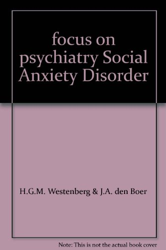 9789073637450: focus on psychiatry Social Anxiety Disorder