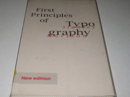 9789074372145: Nla First Principles of Typography