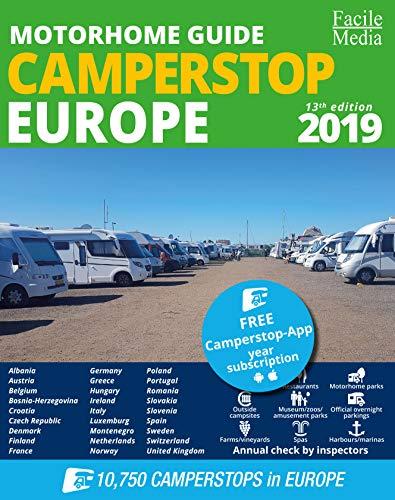 9789076080581: Motorhome guide Camperstop Europe 27 countr. 2019 GPS