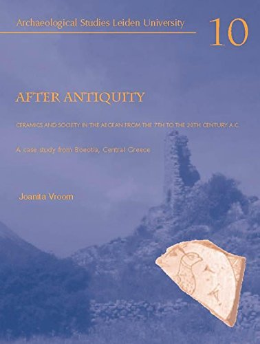 9789076368108: After Antiquity. Ceramics and society in the Aegean from the 7th to 20th century A.C.: A case study from Boeotia, Central Greece (Archaeological Studies Leiden University)