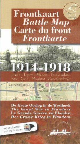 Carte du Front 1914-1918 - la Grande Guerre en Flandre  - en 4 la (Memorial Museum Passchendaele): ...