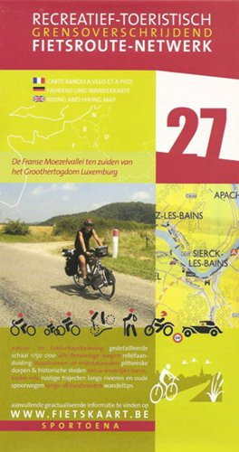 9789078976172: Moselle Valley 27 Biking Hiking Map