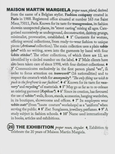 9789079269006: Maison Martin Margiela: 20 Years The Exhibition