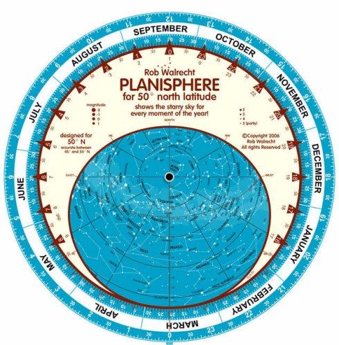 9789080149632: Planisphere 50 Degrees N (English Planispheres)