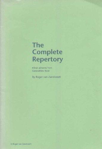 Complete Repertory - Volume 1 - Mind, 3rd edition (paperback): Zandvoort