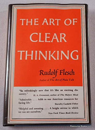 9789080641549: The Art Of Clear Thinking