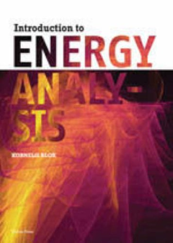 9789085940166: Introduction to Energy Analysis