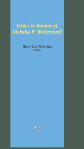 9789086592272: Essays in Honour of Nicholas P. Wolterstorff