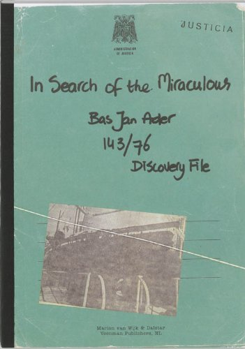 9789086900114: Bas Jan Ader: In Search of the Miraculous: Discovery File 143/76