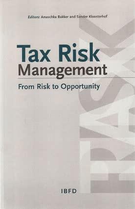 9789087220709: Tax Risk Management