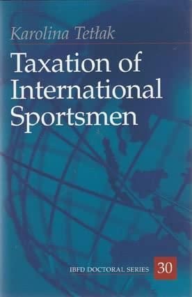 9789087222390: Taxation of International Sportsmen