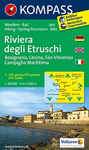 9789087456276: Etruscan Riviera (Italy) 1:50,000 Hiking Map, waterproof, GPS-compatible KOMPASS