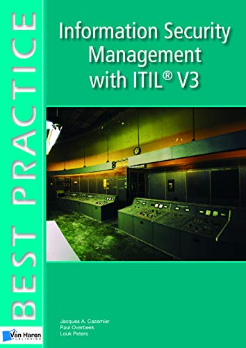 9789087535520: Information Security Management with ITIL� V3 (Best Practice Series)