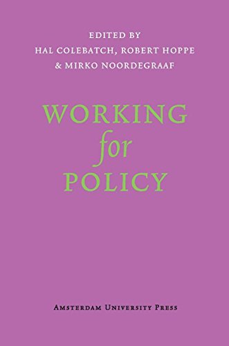 9789089642530: Working for Policy