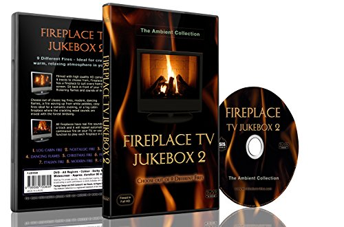 9789089700605: Fire DVD - Fireplace TV Jukebox 2 - choose out of 9 modern Fires with the Sounds of Flames and Burning Wood