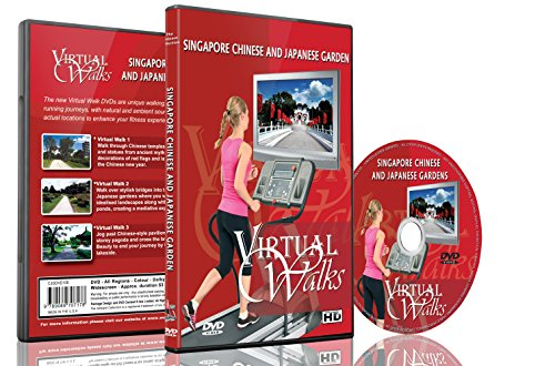 9789089707178: Virtual Walks - Chinese & Japanese Gardens for indoor walking, treadmill and cycling workouts