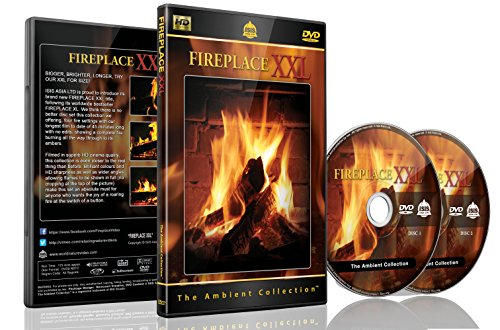 Fireplace Dvd - Fireplace XXL - 2 Dvds Set with Double Extra Long Fires with Burning Wood Sounds