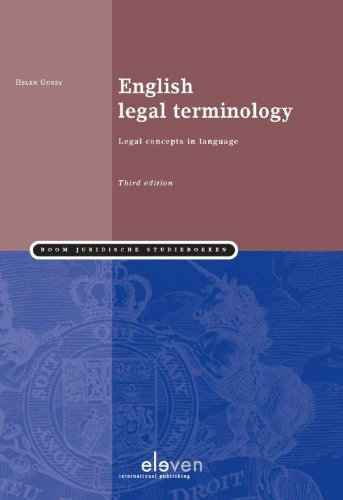 English Legal Terminology: Legal Concepts in Language: Helen Gubby