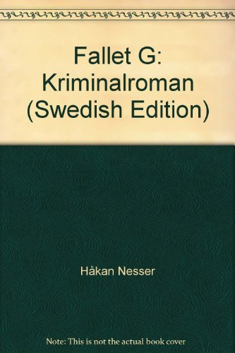 9789100100674: Fallet G: Kriminalroman (Swedish Edition)