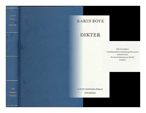 Dikter / Karin Boye [Language: Swedish]: 1900-1941) Boye, Karin: